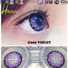 Hình ảnh Bộ kính áp tròng G209 VIOLET 0.0 độ + 1 chai nước ngâm