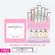 Bộ nước hoa IMMORTEL chai xức 2 ml : Hộp Mini 6+1 FREE 206