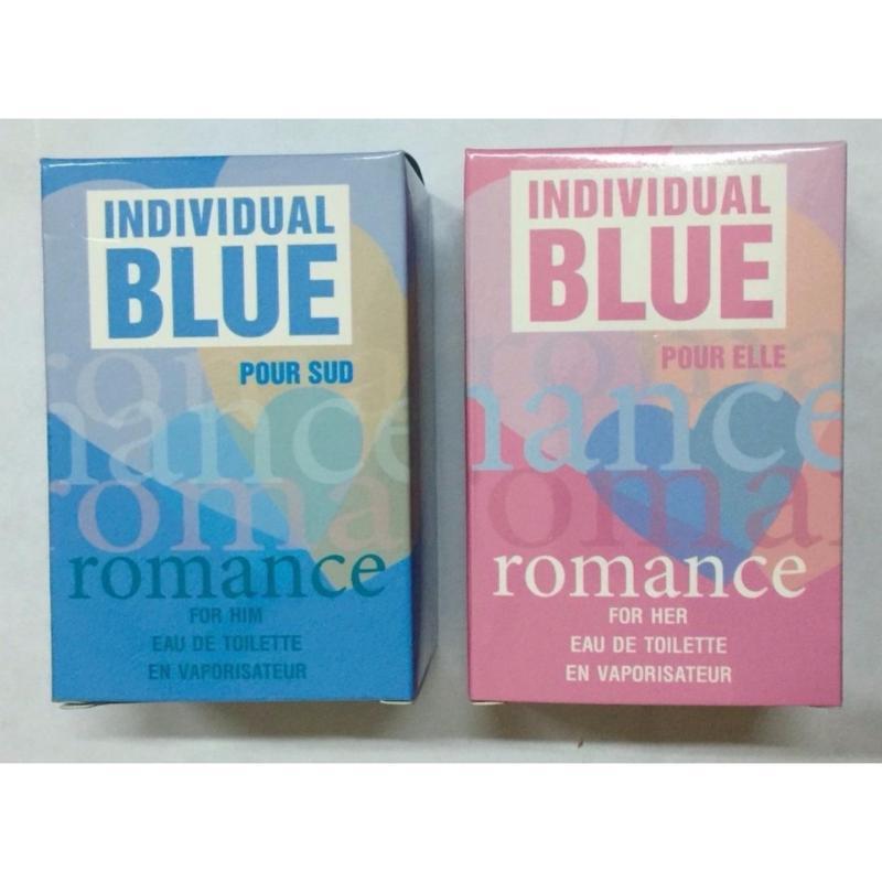 Bộ Nước Hoa Nam Blue Romance For Him Edt 50Ml + Blue Romance Pour Elle For Her 50Ml