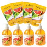 Ôn Tập Trên Bộ Nước Rửa Tay Diệt Khuẩn Tropical Fruits Vedette 4 Chai X 500Ml Va 4 Goi X 400Ml
