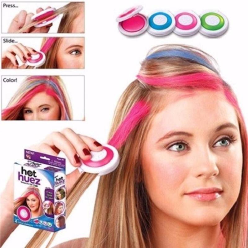 Bộ phấn nhuộm tóc 4  màu Hot Huez cao cấp