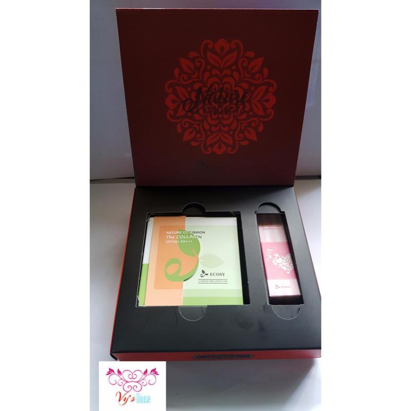Bộ quà tặng Ecosy : Phấn nước CC collagen Ecosy và son tint collagen Ecosy lipstick nhập khẩu