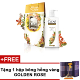 Mua Bộ Qua Tặng Gồm Tui Qua Họa Tiết Hoa Dầu Gội Clear Thảo Dược 650G Tặng Bong Hồng Golden Rose Rẻ Hồ Chí Minh