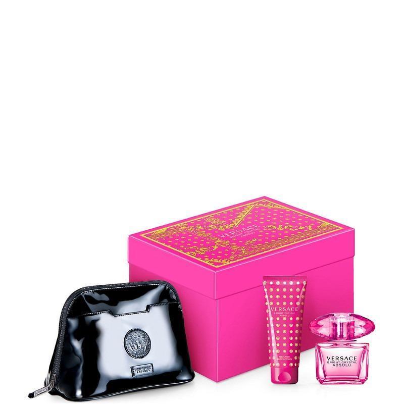 Bộ quà tặng Versace Bright Crystal Absolu EDP 90ml và Body Lotion 100ml kèm túi xách cao cấp