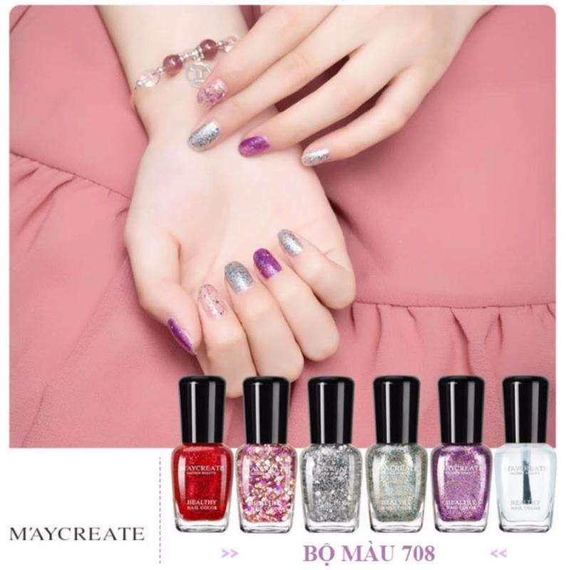 Bộ sơn móng tay (nail) 6 lọ cao cấp (bộ màu 708) nhập khẩu