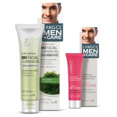 Bộ tẩy tế bào chết môi aha/bha+ 15g và gel rửa mặt sinh học đẹp da collagen + chiết xuất rong nho biển 100g LANGCE dành cho nam tốt nhất