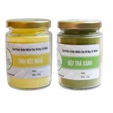 Bộ Tinh Bột Nghệ Nguyên Chất 100gr Và Bột Trà Xanh Nguyên Chất 100gr - Bảo Nam nhập khẩu