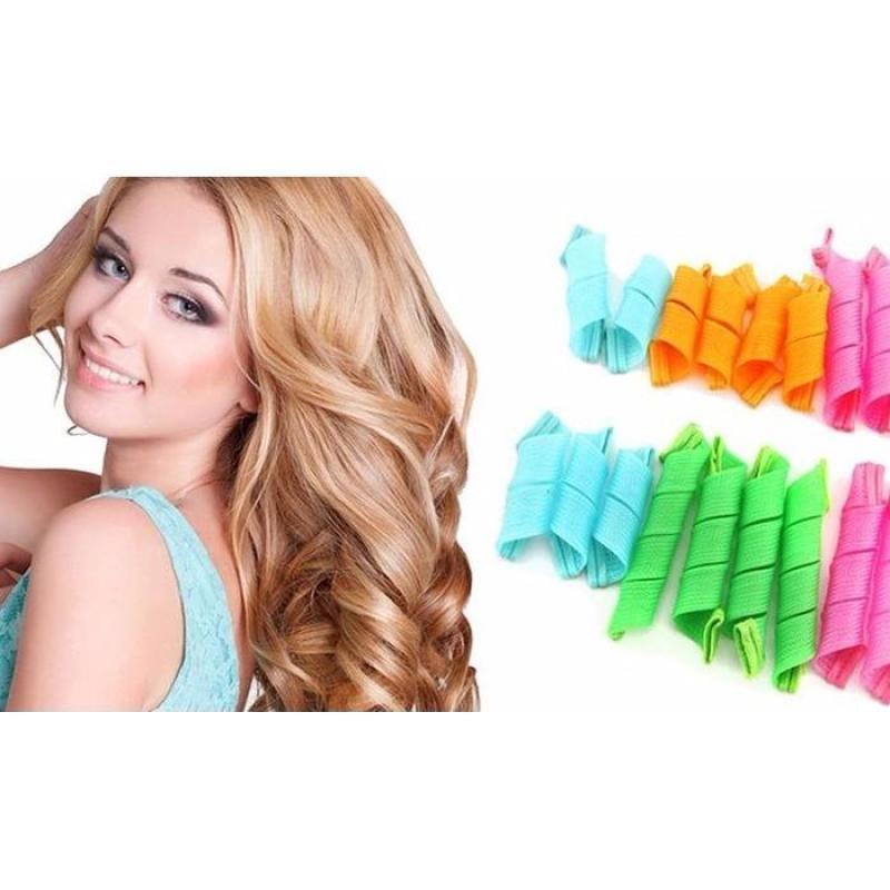 Bộ uốn tóc không dùng nhiệt (16 Lô + 2 thanh nhựa) nhập khẩu
