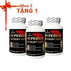 Hình ảnh Bộ Viên uống tăng cân tăng cơ Superior Weight Gain + Tặng 1 sản phẩm cùng loại