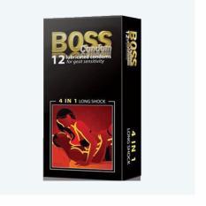 Hình ảnh Bao cao su gân gai-kéo dài thời gian Boss 4in1 hộp 12c