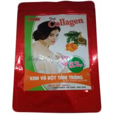 Hình ảnh Kem và bột tắm trắng trái cây thảo dược collagen
