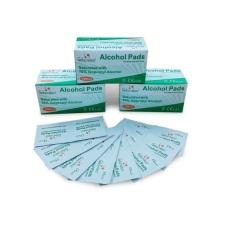 Bông tẩm cồn tiệt trùng vết thương 1 hộp (100 miếng)