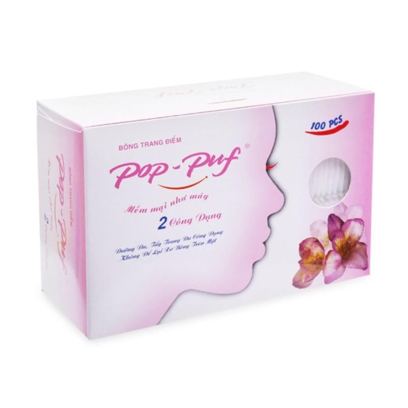 Bông trang điểm Pop-puf 2 công dụng trang điểm và tẩy trang nhập khẩu