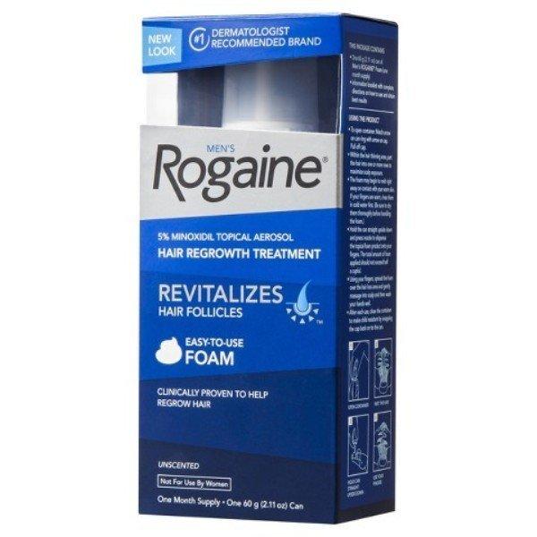 Bọt mọc tóc Nam Mens Rogaine Revitalizes Hair Follicles 60g