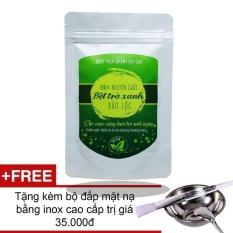 Bột Trà Xanh Nguyên Chất Bảo Lộc VG  (túi 100gr) + Tặng Bộ Đắp Mặt Nạ Inox