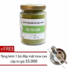 Bột Tra Xanh Chăm Soc Vung Da Cổ Vai 100G Tặng Bộ Đắp Mặt Nạ Inox Baonam Cosmetics Rẻ Trong Hồ Chí Minh
