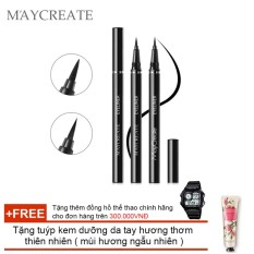 Hình ảnh Bút lông kẻ mắt Maycreate ( 0.6ml ) + Tặng tuýp kem dưỡng da tay hương thơm thiên nhiên ( Đơn hàng mỹ phẩm trên 300k tặng thêm 1 đồng hồ thể thao như quảng cáo )