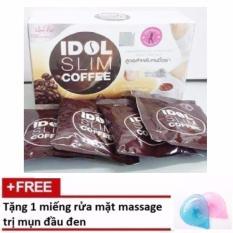 Cà phê giảm cân Idol Slim Coffee  + Tặng 1 miếng rửa mặt massage trị mụn đầu đen