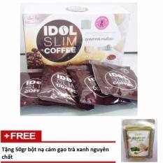Cà phê giảm cân Idol Slim Coffee  + Tặng 50gr cám gạo trà xanh nguyên chất