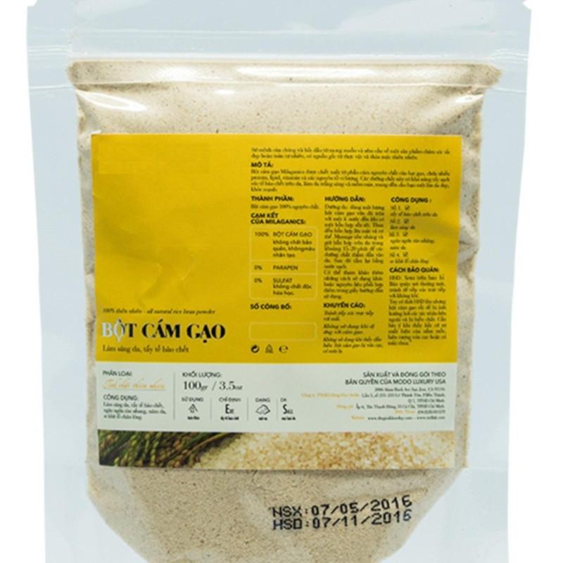 Cám gạo  organic 100g