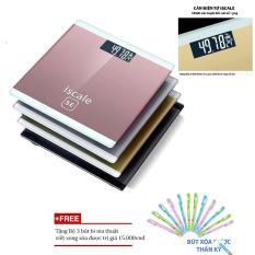 Cân điện tử giá rẻ/cân điện tử 100kg kính cường lực Giá Tốt + Tặng bộ 3 bút bi ma thuật nhập khẩu