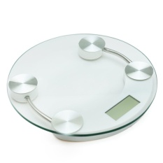 Hình ảnh Cân điện tử mặt kính cường lực đường kính 26cm, cân sức khỏe, cân điện tử, cân y tế, dụng cụ đo lường