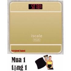 Cân Sức Khỏe Điện Tử Gia Đình Iscale Hình Iphone( hồng ) + gen nịt bụng giảm béo