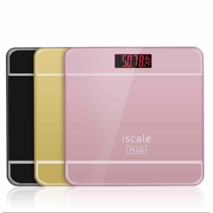 Cân sức khỏe điện tử kèm đo nhiệt độ phòng cao cấp IsCale Plus mới nhất 2017