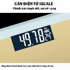 Cân sức khỏe giá rẻ tphcm kính cường lực Iscale (Màu ngẫu nhiên)