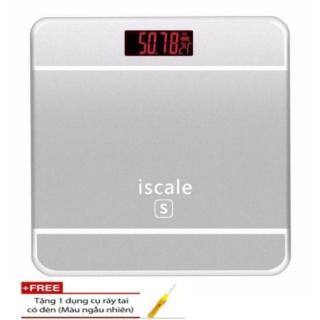 Cân sức khỏe kiểu Iphone Iscale cho gia đình thân yêu + Tặng kèm dụng cụ soi tai có đèn trị giá 50 ngàn đồng thumbnail