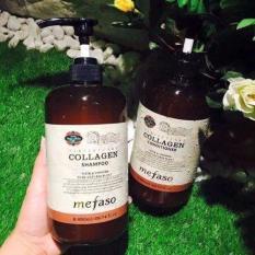 Hình ảnh Cặp dầu gội xả Collagen Mefaso ( 2chai x 850ml) siêu mềm mượt, phục hồi mái tóc hư tổn đến 99%