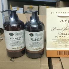 Ôn Tập Cặp Dầu Gội Xả Collagen Mefaso Italy 850Ml X 2 Sieu Mềm Mượt Phục Hồi Mai Toc Hư Tổn Đến 99 Mefaso