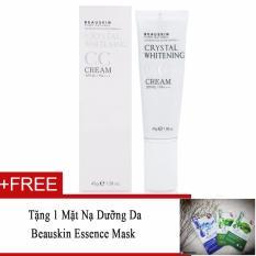 Hình ảnh CC Cream trang điểm làm trắng sáng da Beauskin CC Cream Crystal Whitening SPF45/PA+++ 45g (Hàng Chính Hãng) + Tặng 1 Mặt nạ dưỡng da Beauskin Essence Mask