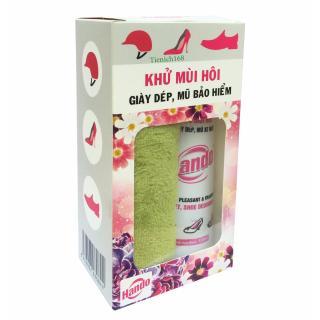Chai Khử Mùi Hôi Giầy Dép Mũ Bảo Hiểm Tặng Khăn Lau Giầy Chuyên Dụng TI851 thumbnail