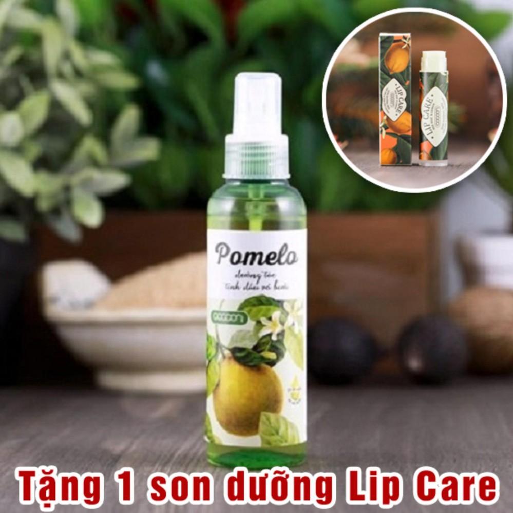 Hình ảnh Chai xịt tóc tinh dầu bưởi Pomelo dưỡng tóc tặng 1 son dưỡng môi Lip Care