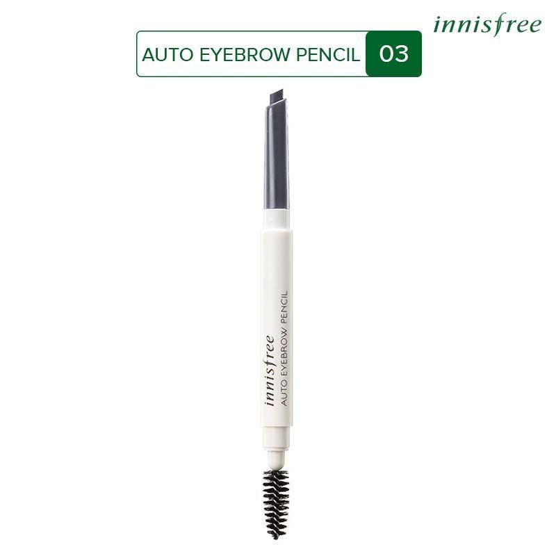 Chì kẻ chân mày Innisfree Auto Eyebrow Pencil Gray 0.3g #3