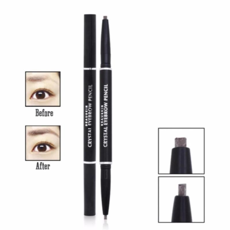 Chì kẻ lông mày 2 đầu màu NÂU ĐEN Beauskin Eyebrow Crystal Eyebrow Pencil #04 ( BLACK BROWN) cao cấp