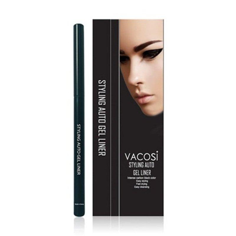 Chì kẻ mắt dạng gel Vacosi Styling Auto Gel Eyeliner EL01  (Đen) (Hàng Chính Hãng)