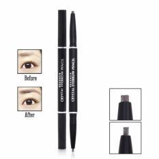 Hình ảnh Chì kẻ mày 2 đầu Beauskin Eyebrow Crystal Eyebrow Pencil #04 (Màu Đen Nâu) - Hàng Chính Hãng