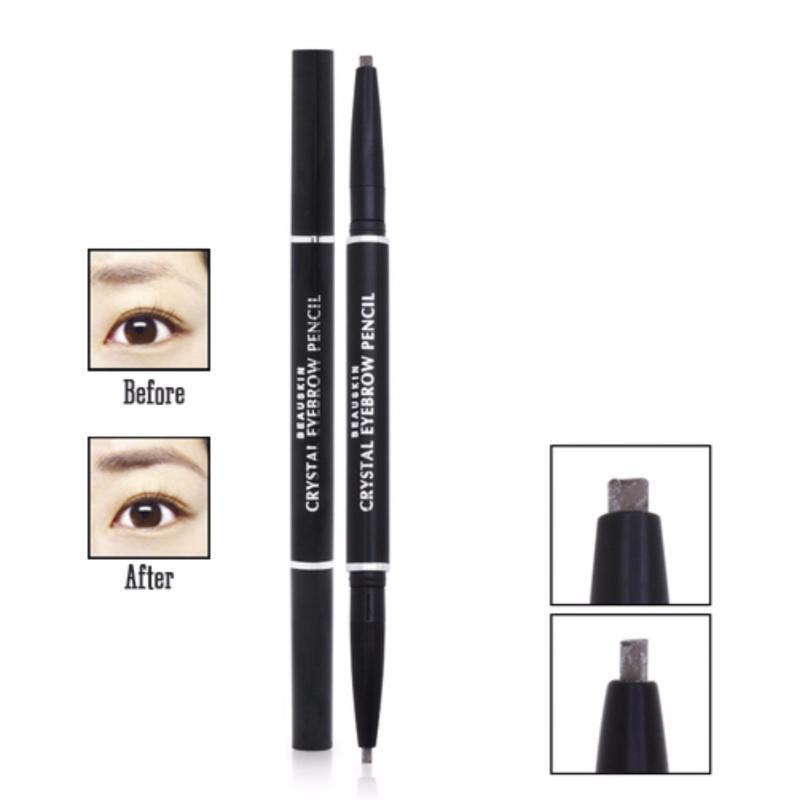 Chì kẻ mày 2 đầu Beauskin Eyebrow Crystal Eyebrow Pencil #04 (Màu Đen Nâu) - Hàng Chính Hãng cao cấp