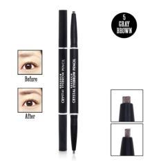 Chì kẻ mày 2 đầu Beauskin Eyebrow Crystal Eyebrow Pencil #05 (Màu Nâu Xám) - Hàng chính hãng tốt nhất