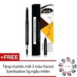 Mua Chi Kẻ May Định Hinh Hai Đầu Vacosi Auto Eyebrow Pencil No 3 Black Brown 5Ml Hang Chinh Hang Tặng Vỉ Phấn Mắt 3 Mau Vacosi Eyeshadow 5G Ngẫu Nhien Hang Chinh Hang Vacosi