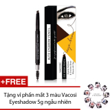 Bán Mua Chi Kẻ May Định Hinh Hai Đầu Vacosi Auto Eyebrow Pencil No 5 Natural Brown 5Ml Hang Chinh Hang Tặng Vỉ Phấn Mắt 3 Mau Vacosi Eyeshadow 5G Ngẫu Nhien Hang Chinh Hang Hồ Chí Minh