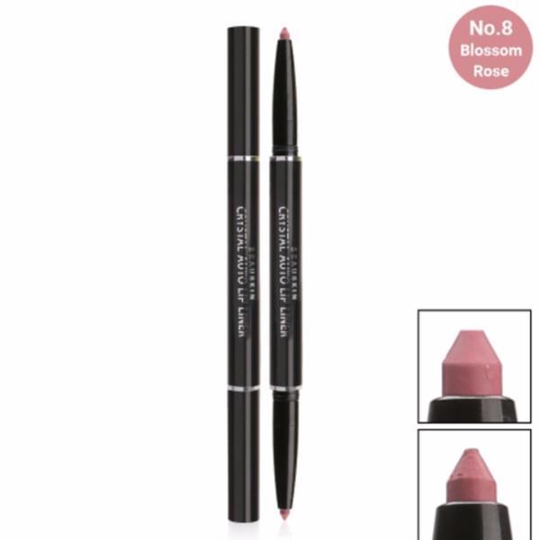 Chì vặn kẻ môi 2 đầu xinh xắn Beauskin Crystal Auto Lip Liner 8 Blossom Rose giá rẻ