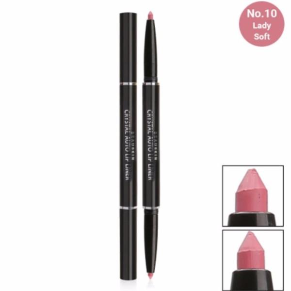 Chì vặn kẻ viền môi 2 đầu Beauskin Crystal Auto Lip Liner #10 Lady Soft (Màu hồng) giá rẻ