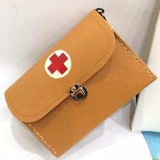 Hình ảnh [ GIẢM GIÁ] Túi cứu thương CHỮ THẬP loại nhỡ ( 29cm x 10cm x 21cm) tiện lợi đựng thuốc và dụng cụ y tế tại nhà, đi dã ngoại- kiểu dáng đẹp G95