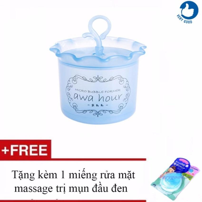 Hình ảnh Cốc tạo bọt sữa rửa mặt + Tặng kèm 1 miếng rửa mặt massage trị mụn đầu đen