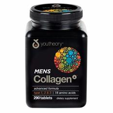 Collagen nam - Youtheory Mens Collagen type 1 2 & 3 hộp 290 viên