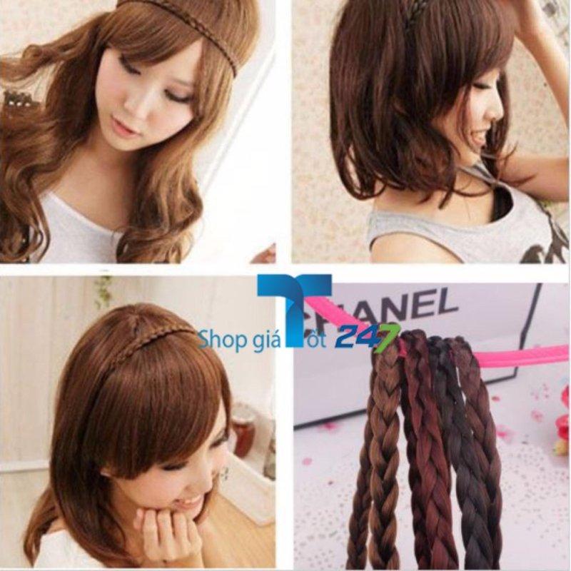 Combo 02 băng đô tóc tết cho bạn gái (Đen+ Ca phê) cao cấp