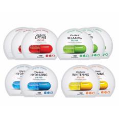 Hình ảnh Combo 10 gói Mặt nạ giấy Banobagi Vita Genic Jelly Mask 30ml x10 (Lifting, Whitening, Relaxing, Hydrating)